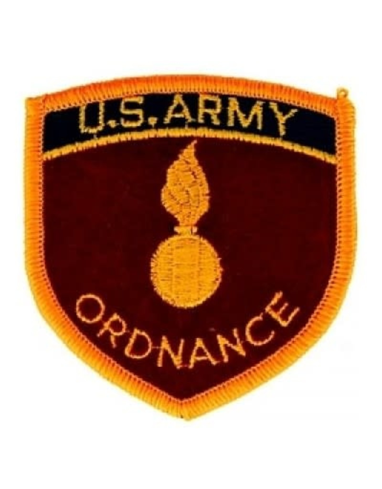 """MidMil Embroidered U.S. Army Ordnance 2.8"""" wide x 2.9"""" high"""