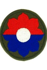 """MidMil Embroidered 9th Infantry Division Emblem Patch 2.5"""" Olive Drab"""