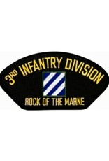 """MidMil Embroidered 3rd Infantry Division Patch with Emblem and Motto 5.2"""" wide x 2.7"""" high Black"""
