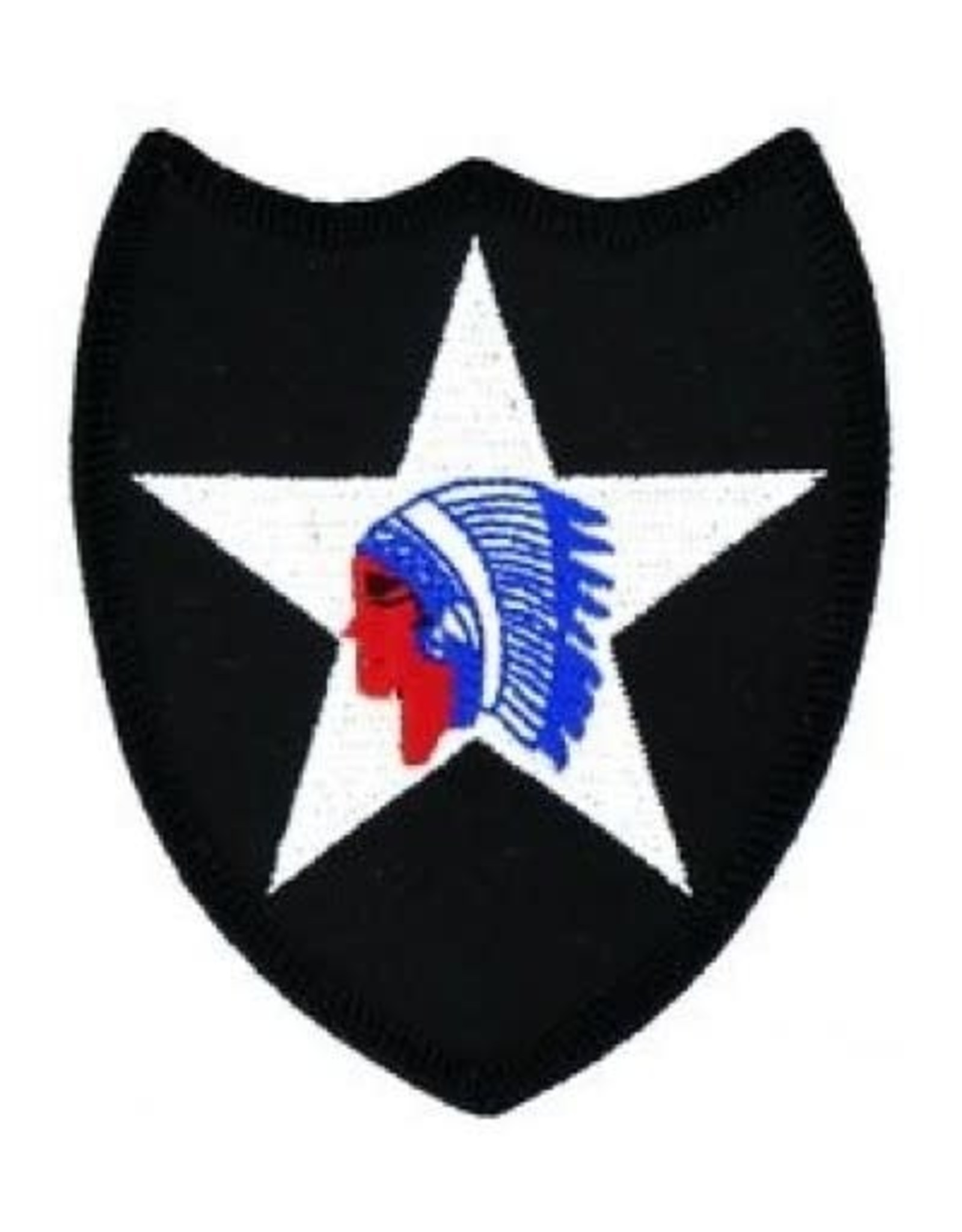 "MidMil Embroidered 2nd Infantry Division Emblem Patch 2.9"" wide x 3.1"" high"