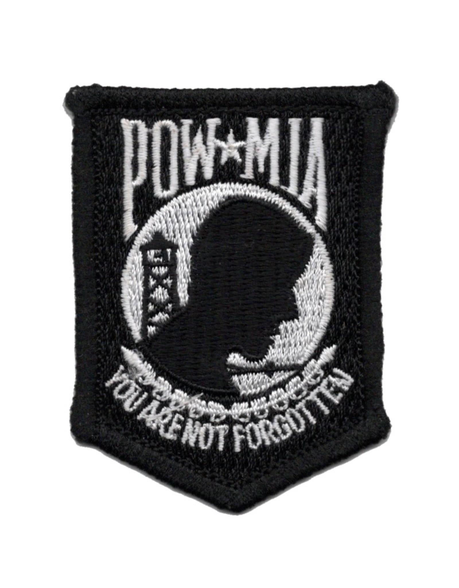 "MidMil Embroidered POW*MIA ""You are not Forgotten"" Patch 2"" wide x  2.5"" high"
