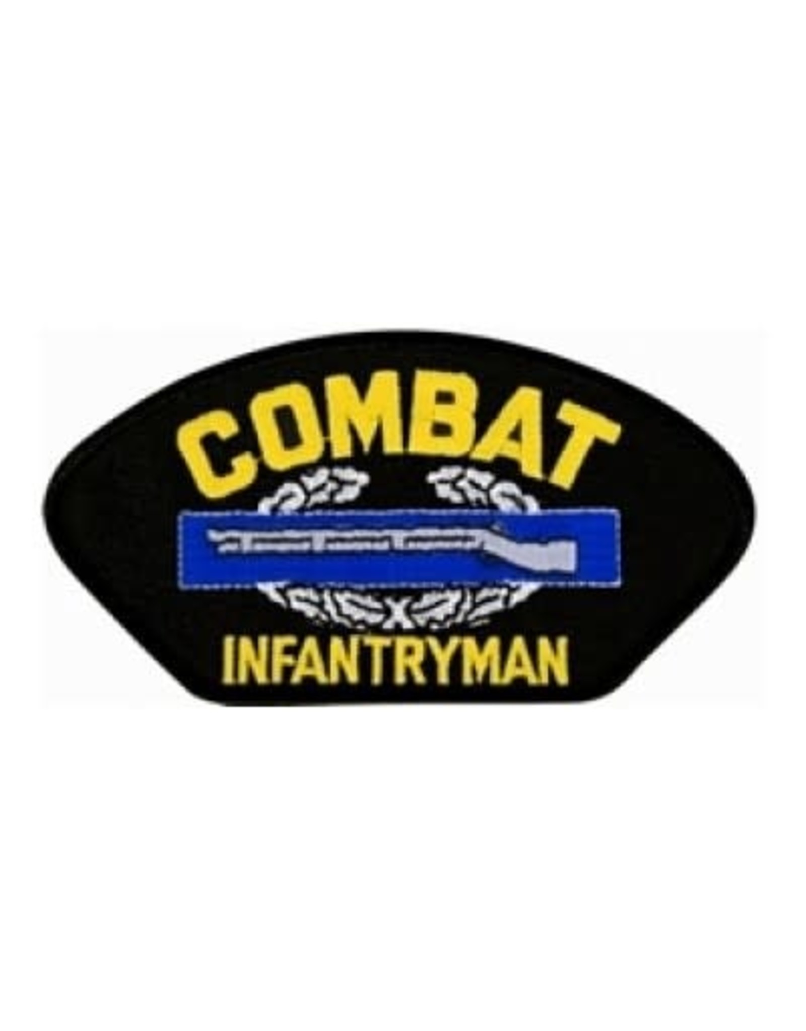 """MidMil Embroidered Combat Infantryman Badge Patch with Emblem 5.2"""" wide x 2.7"""" high Black"""