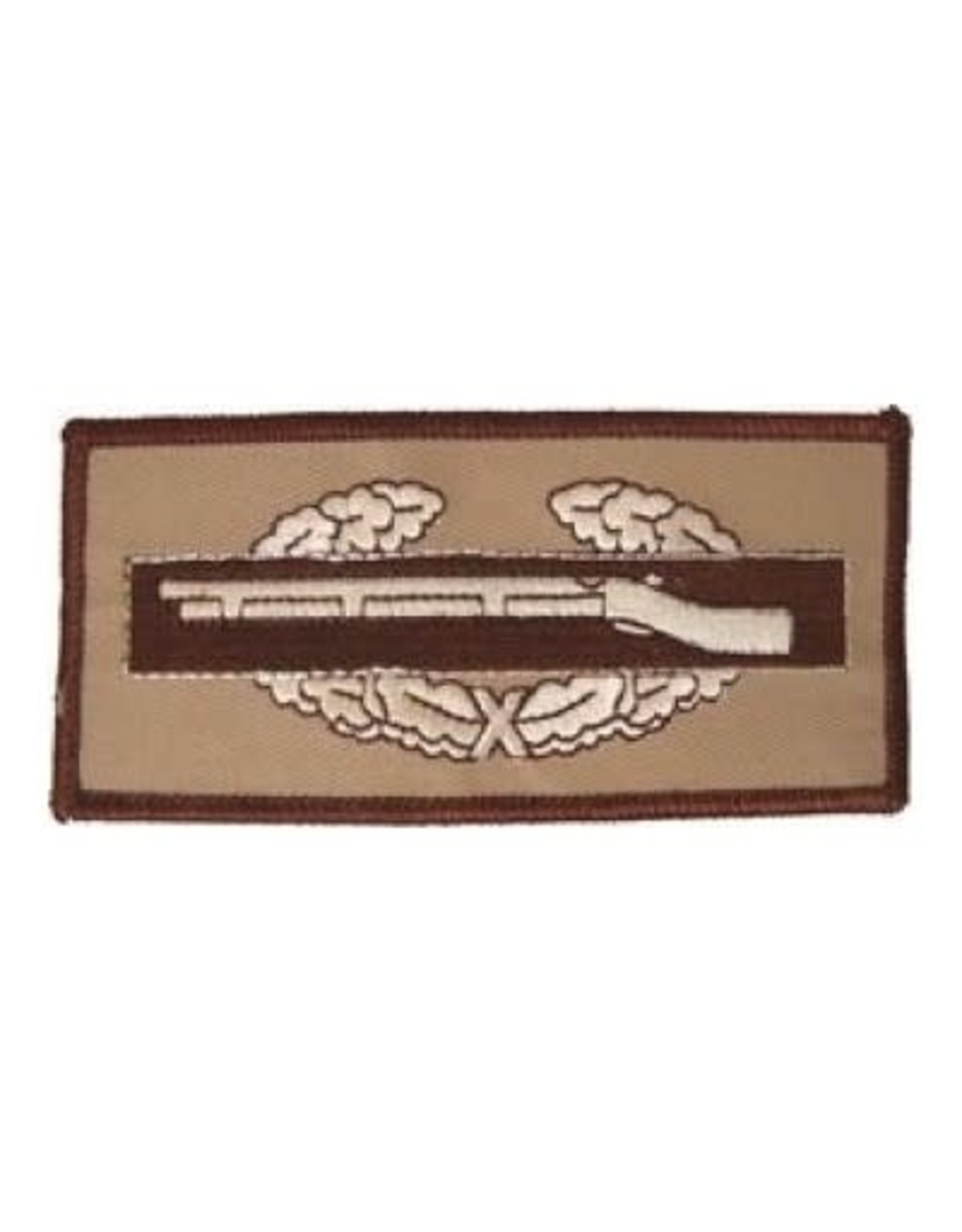 """MidMil Embroidered Subdued Combat Infantryman Badge CIB Patch 4.3"""" wide x 2"""" high Desert"""