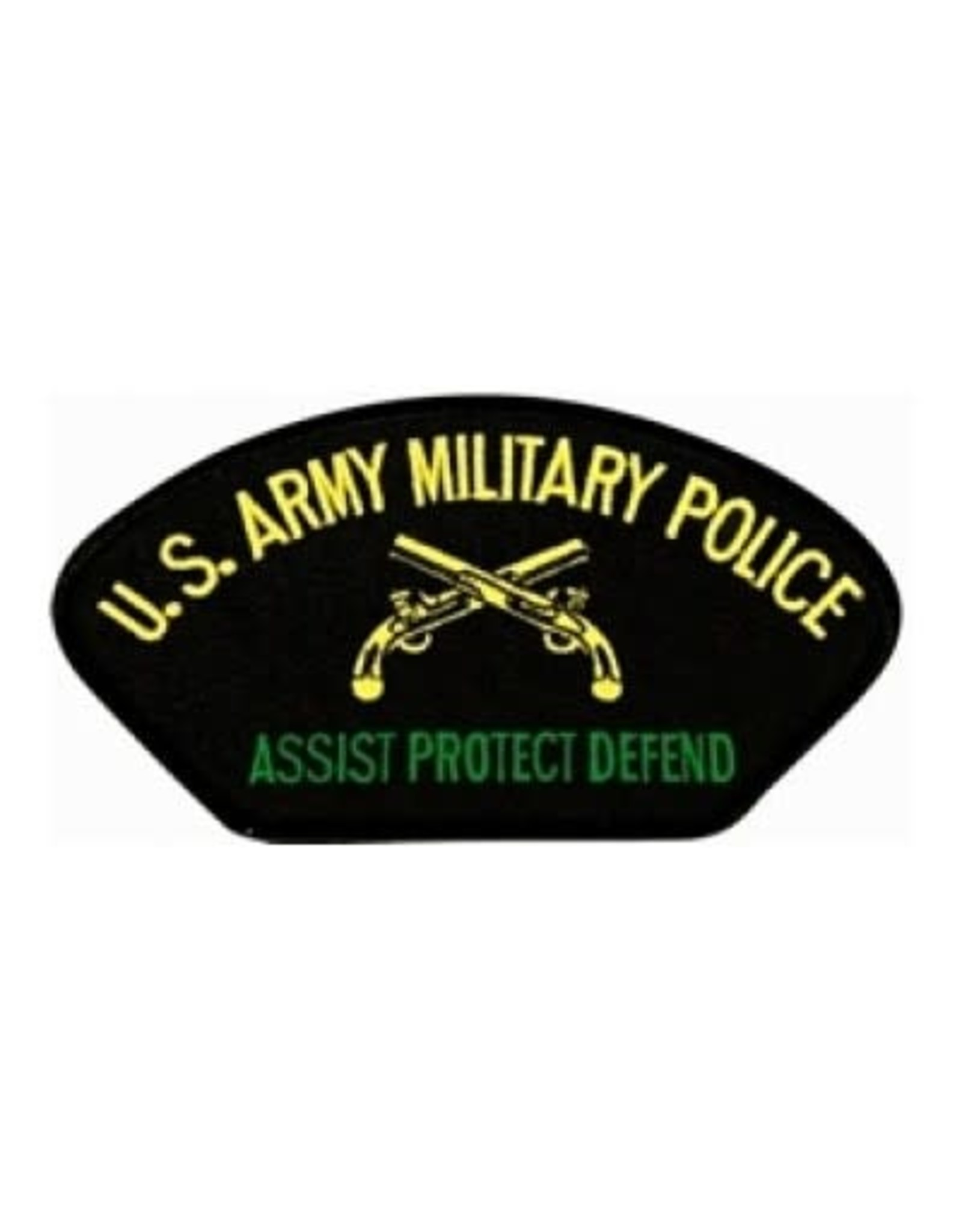 "MidMil Embroidered U.S. Army Military Police Patch with Emblem and Motto 5.2"" wide x 2.7"" high Black"