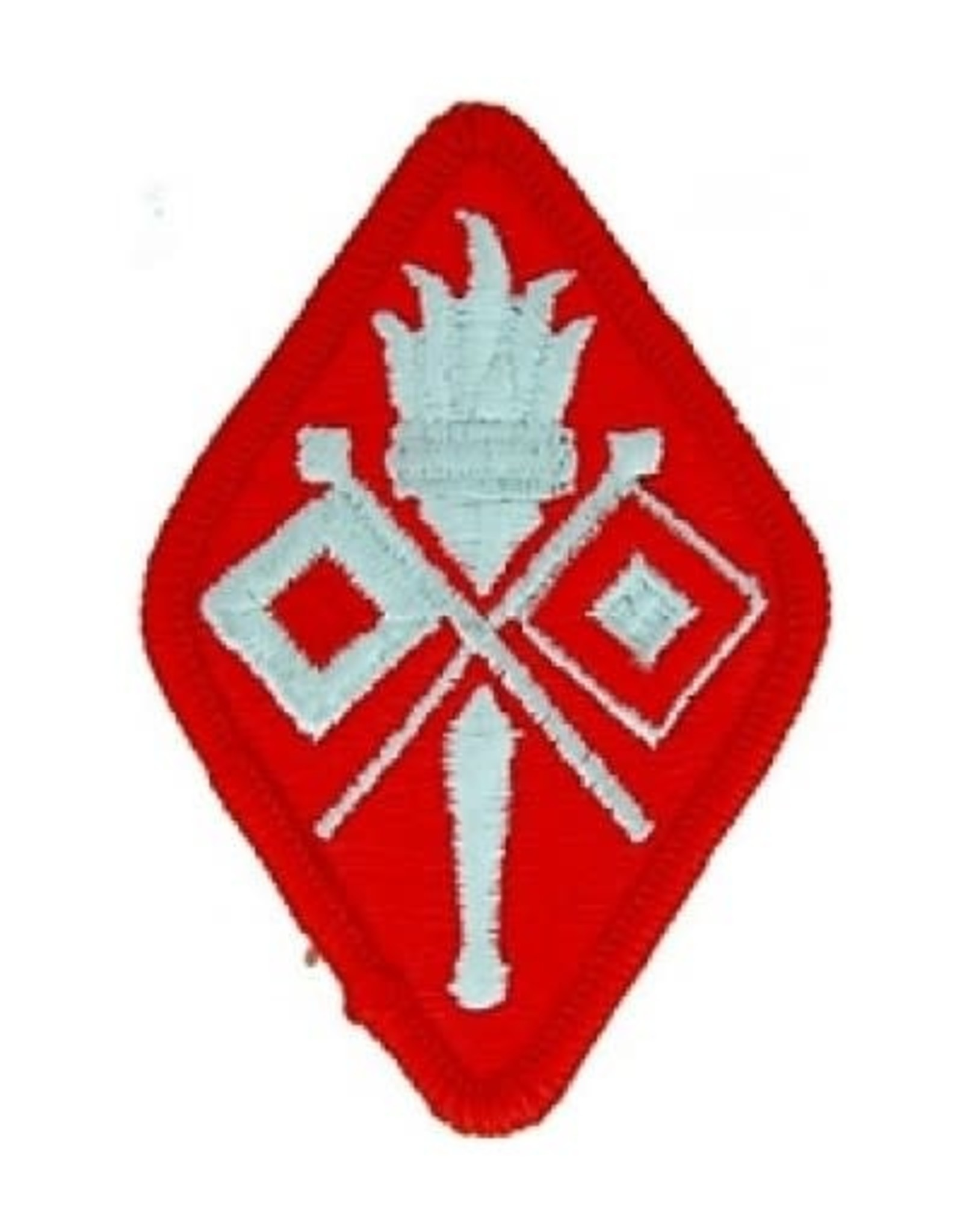 """MidMil Embroidered Signal Corps School Patch 2"""" wide x 3"""" high"""