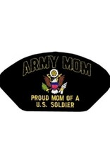"""MidMil Patch Army Misc Seal Proud Mom of a U.S. Soldier """"H"""" 5.25x2.75"""""""