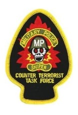 """MidMil Embroidered Military Police Sniper - Counter Terrorist Task Force Patch 2.5"""" wide x 3.5"""" high"""