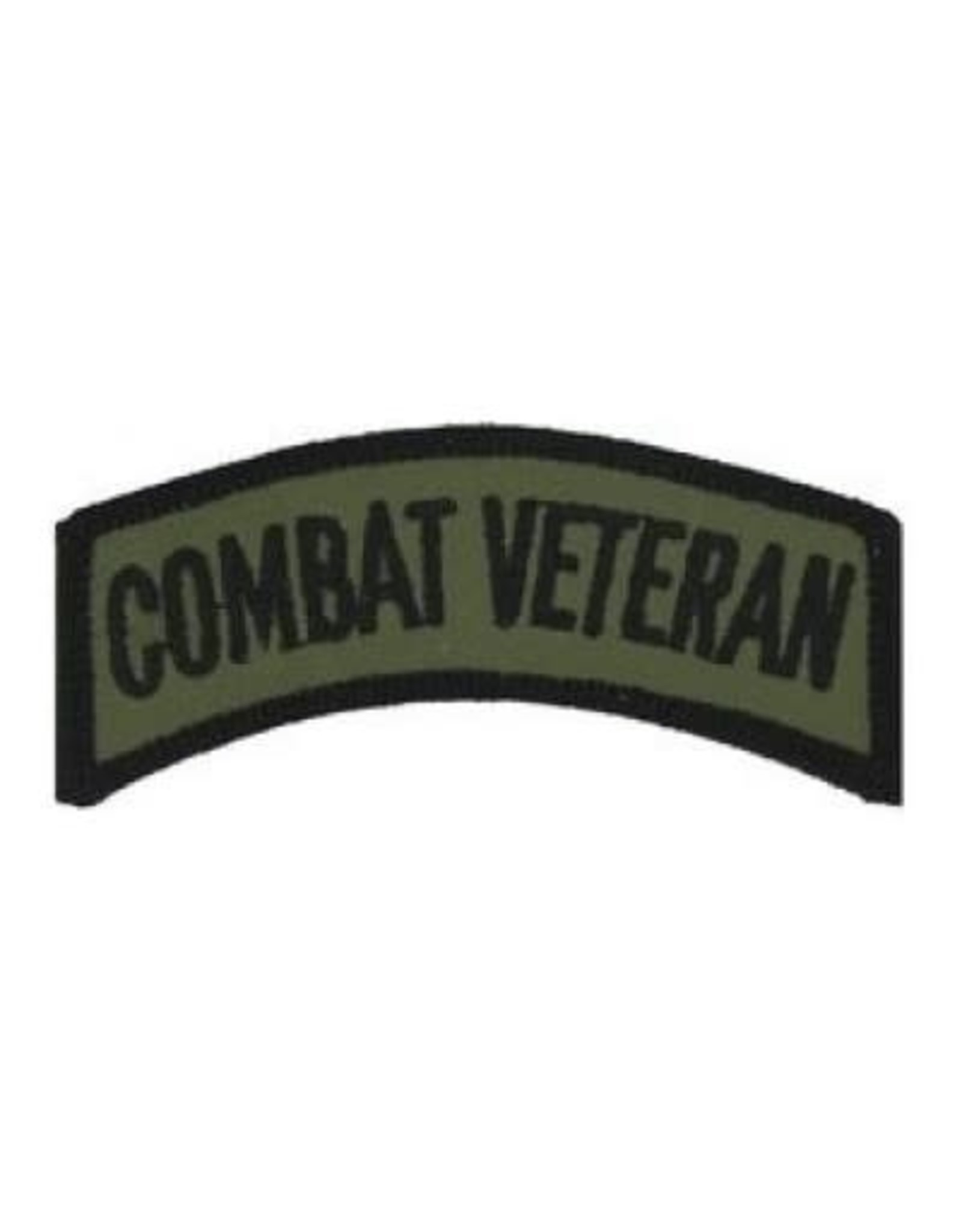 """MidMil Embroidered Combat Veteran Tab 3.2"""" wide x 1 .1"""" high Olive Drab"""