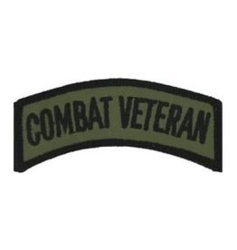 "MidMil Embroidered  Combat Veteran Tab 3.2"" wide x 1 .1"" high Olive Drab"