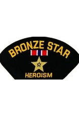 "MidMil Embroidered Bronze Star - Heroism Patch with Emblem 5.2"" wide x 2.7"" high Black"