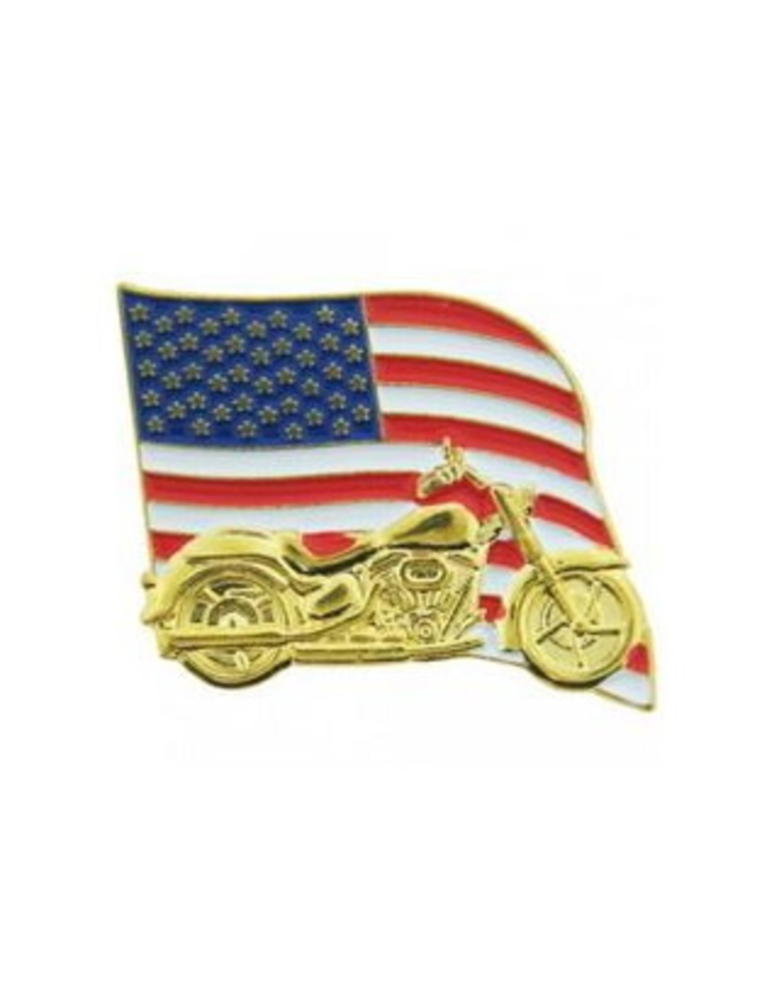 """MidMil American Flag Motorcycle Pin 1 1/4"""" wide x 1"""" high"""