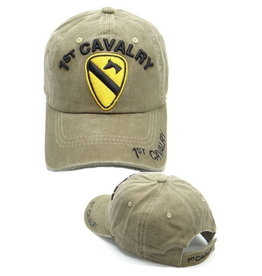 MidMil 1st Cavalry Hat with Emblem Coyote Wash