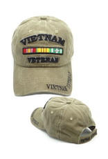 MidMil Vietnam Veteran Hat with Ribbons Coyote Wash