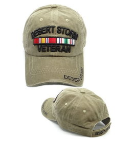 MidMil Desert Storm Veteran Hat with Ribbons Coyote Wash