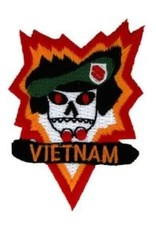 """MidMil Embroidered Vietnam Studies and Operation Group Emblem Patch 2"""" wide x 2.9"""" high"""