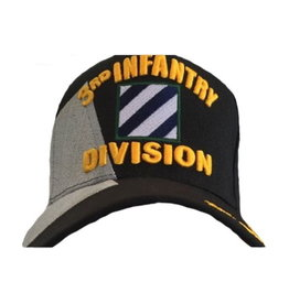 MidMil Army 3rd Infantry Division Hat with Emblem and Over Shadow Black