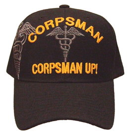 MidMil Marines/Navy Corpsman UP! Hat with Shadow Black