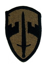 "MidMil Embroidered Subdued Military Assistance Command (MAC) Patch 1.8"" wide x 2.5"" high Olive Drab"