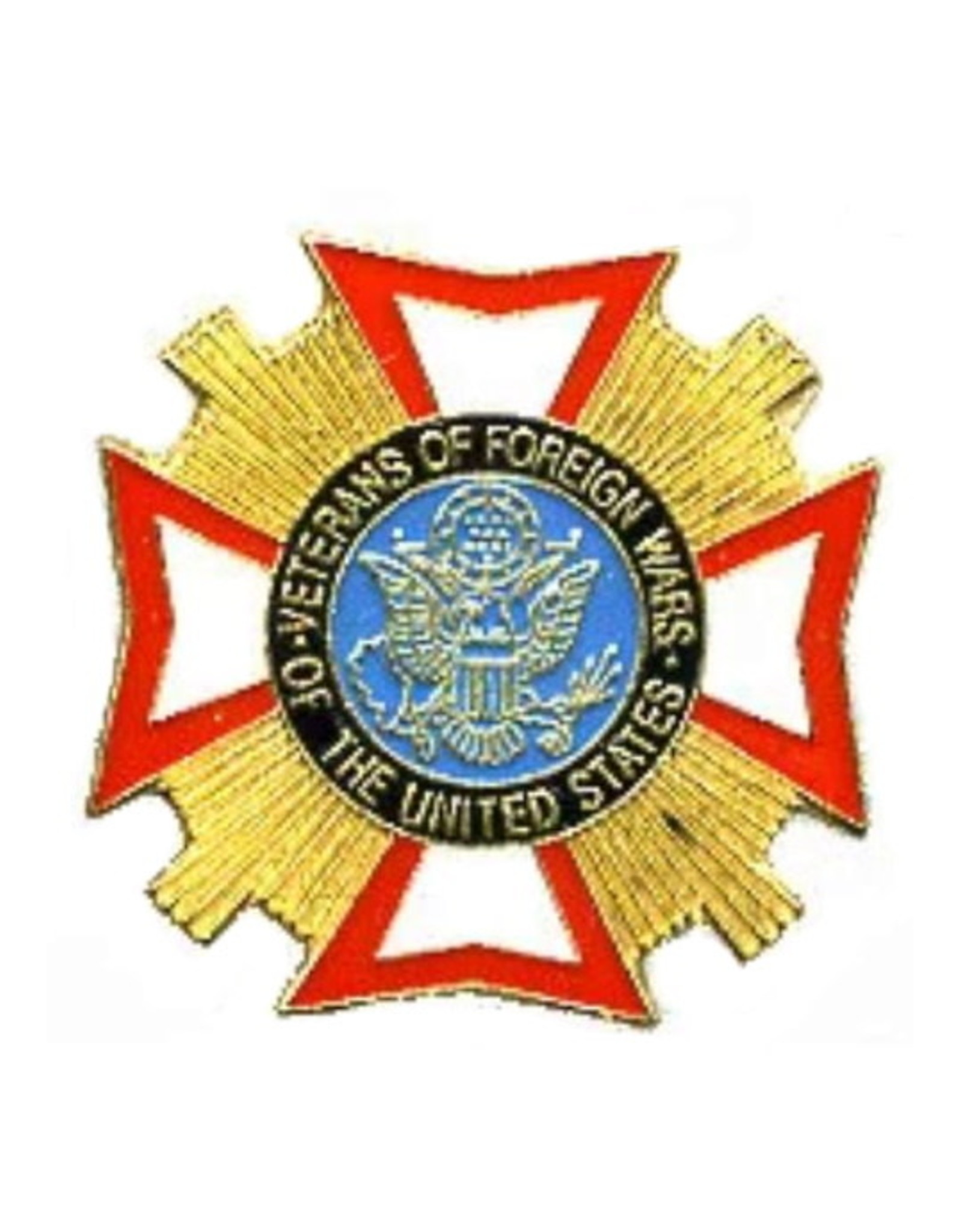"""MidMil VFW Veterans of Foreign Wars Pin 1"""""""