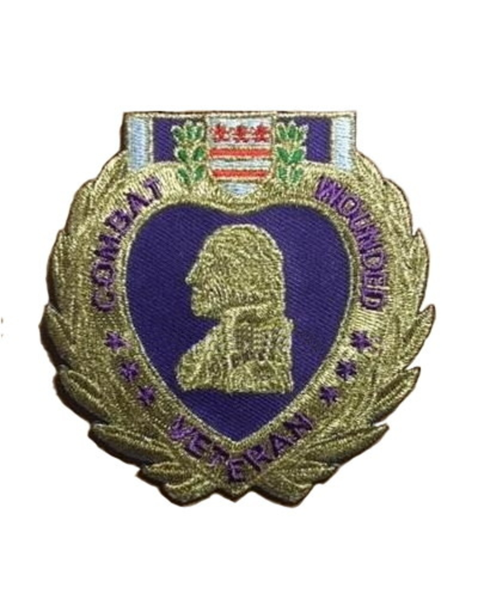 "MidMil Purple Heart Medal Patch 3"" wide x 3.1"" high"