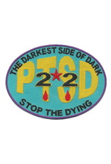"""MidMil  PTSD 22 - The Darkest Side of Dark - Stop the Dying Patch 4.2"""" wide x 3.1"""" high"""