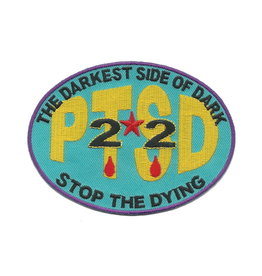 "MidMil PTSD 22 - The Darkest Side of Dark - Stop the Dying Patch 4.2"" wide x 3.1"" high"