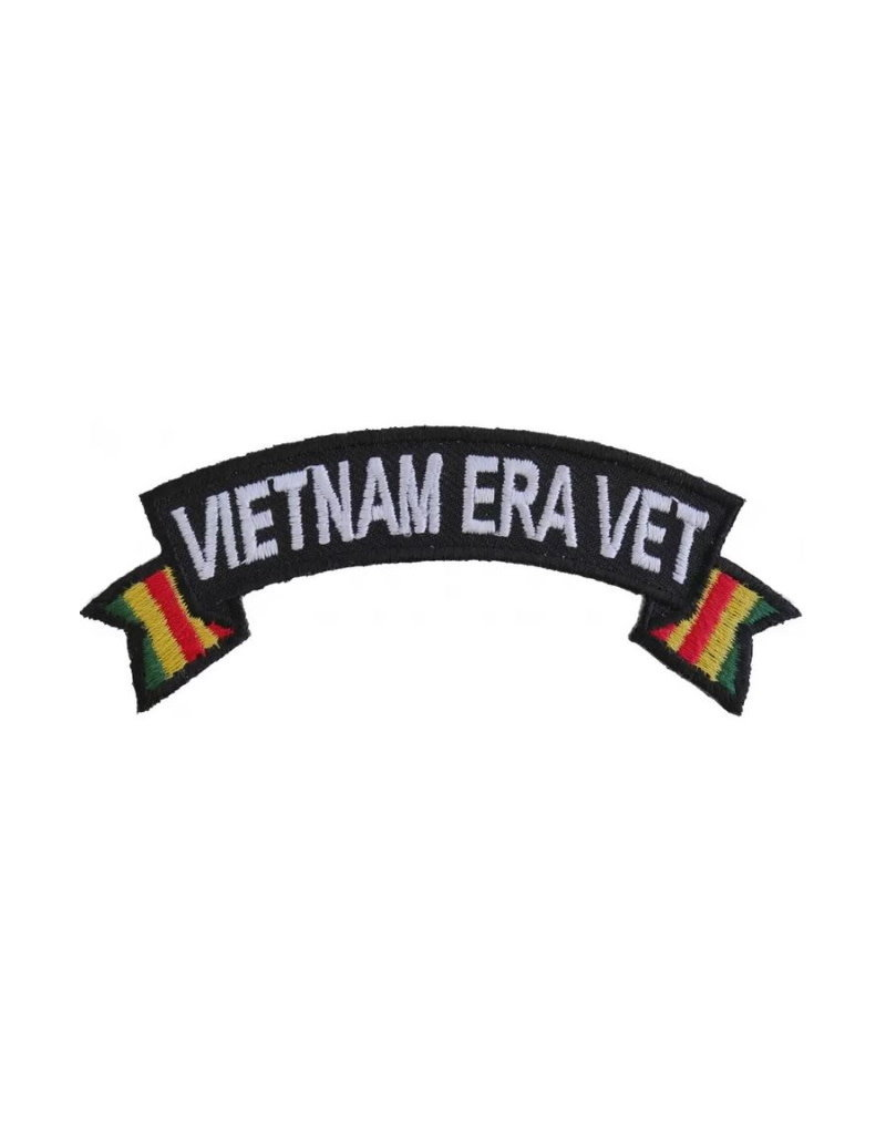 """MidMil Embroidered Vietnam Era Vet Tab Patch with Ribbon Tails 4"""" wide x 1.5"""" high"""