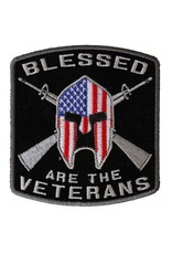 """MidMil Embroidered Blessed are the Veterans Patch 3.5"""" wide x 3.7"""" high"""