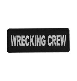 "MidMil Embroidered Wrecking Crew Patch 4"" wide x 1.5"" high Black"