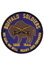 "MidMil Embroidered Buffalo Soldiers Patch with Emblem and Mottoes ""We can, We will"" and ""Ready and Forward"" 3"""