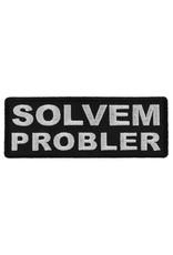 "MidMil Embroidered Solvem Probler Patch 4"" wide x 1.5"" high Black"