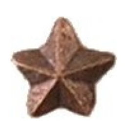 MidMil Bronze Star Repeat Device for Fabric Ribbon and Medals 5/16""
