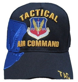 MidMil Air Force Tactical Air Command Hat with Crest and Over Shadow  Dark Blue