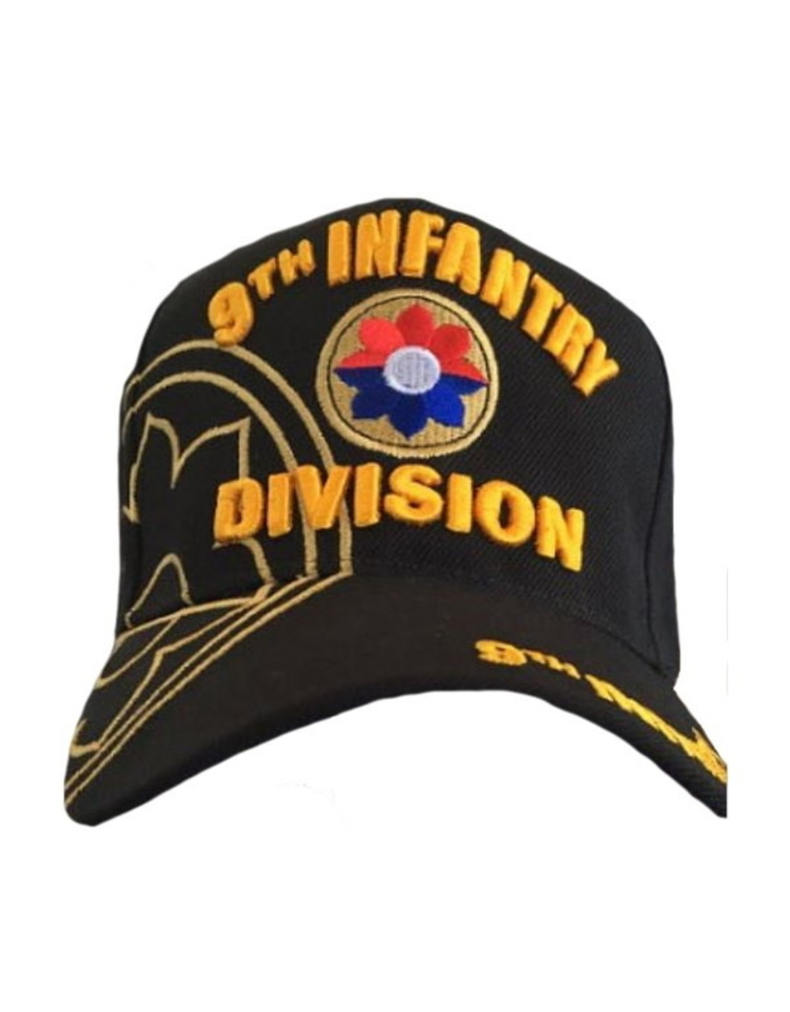 MidMil Army 9th Infantry Division Hat with Emblem and Over Shadow Black