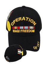MidMil Operation Iraqi Freedom Hat with Medal and Ribbons Desert Digital Camouflage