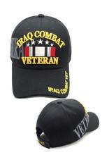 MidMil Iraq Combat Veteran Hat with Ribbon and Shadow Black