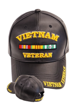 MidMil Vietnam Veteran Hat with Ribbons and Shadow Black Leather