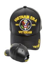 MidMil Vietnam Era Veteran Hat with USA Seal Black Pleather