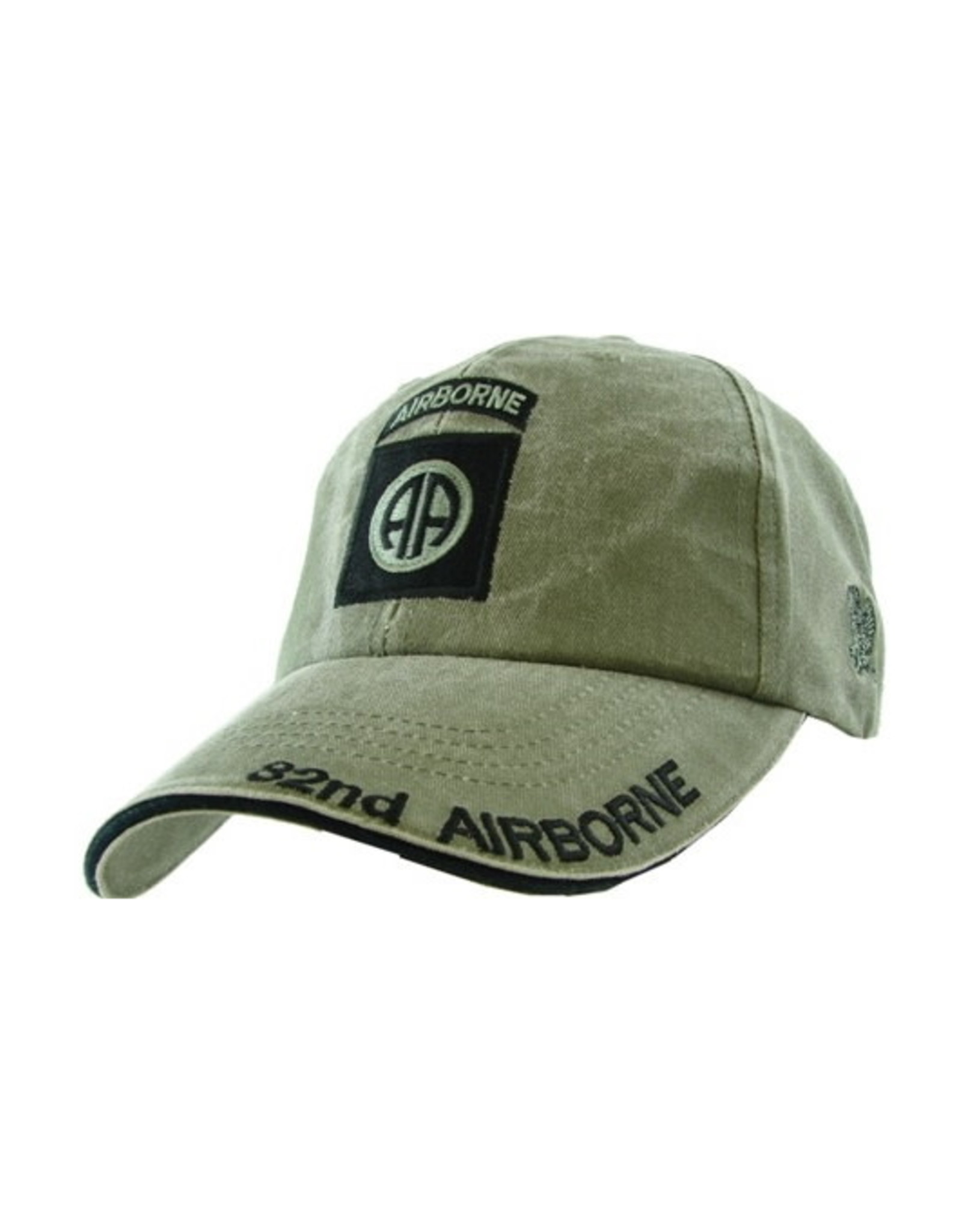 MidMil Army 82nd Airborne Division Hat with Subdued Emblem Olive Drab