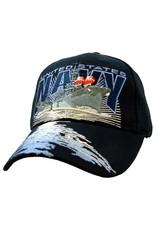MidMil Navy Destroyer Hat with Water on Bill Dark Blue