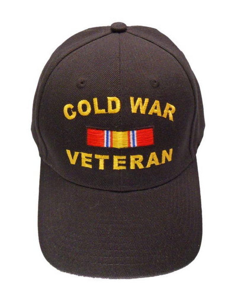 MidMil Cold War Veteran Hat with  National Defense Ribbon Black
