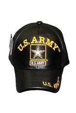 MidMil U.S. Army Hat with Star Emblem Black Leather