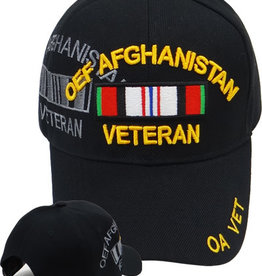 MidMil OEF Afghanistan Veteran Hat with Ribbon and  Shadow  Black