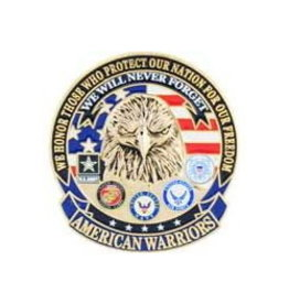 "MidMil American Warriors Pin 1 5/8"""