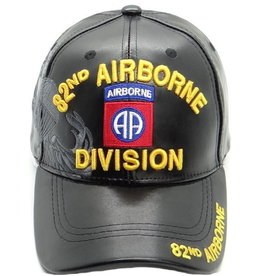 MidMil 82nd Airborne Division Hat with Emblem and Shadow Black Pleather