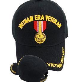 MidMil Vietnam Era Veteran Hat with National Defense Medal Black