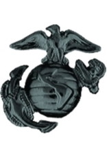 "MidMil Marine Corps Eagle Globe and Anchor Pin 1"" Black"