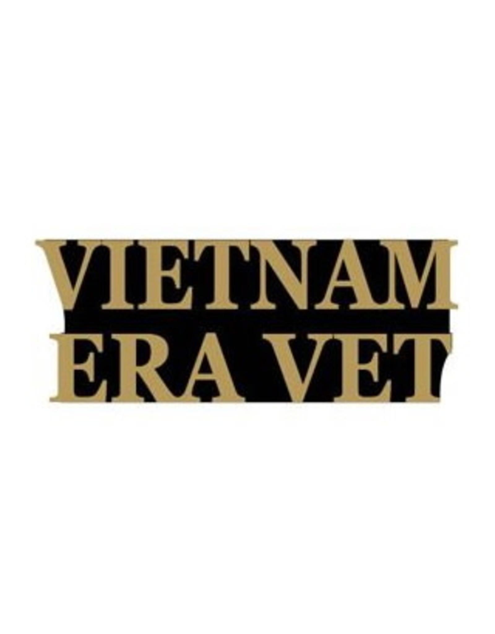 """MidMil Vietnam Era Vet Text Pin 1-1/4"""""""
