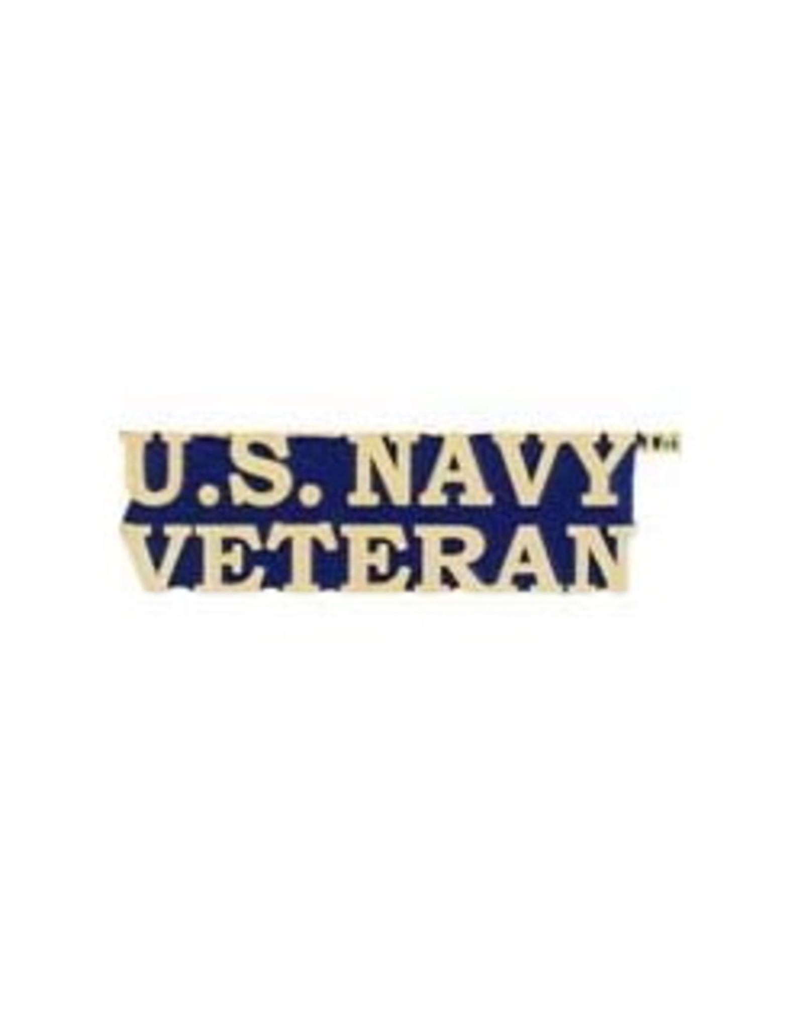 """MidMil U.S. Navy Veteran Text Pin 1-1/2"""""""