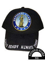 MidMil Army National Guard Hat with Seal and Motto on Bill Black